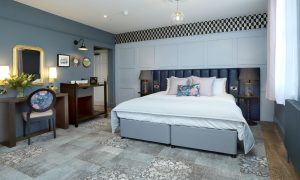 The luxurious rooms at St Martins Lodge, an independent boutique hotel in Leicester